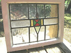 ANTIQUE+ENGLISH+LEADED+STAINED+GLASS+WINDOW+%2A+4+COLORS+%2A+ORIG.+WOOD+FRAME%2FHINGES