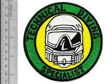 SCUBA Hard Hat Commercial Diver Technical Diving Specialists Qualified Patch lg