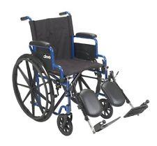 Drive Medical BLS18FBD-ELR Blue Streak Wheelchair, Flip Back Desk Arms & LegRest
