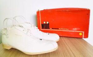 WINIT Boxed 70's Vintage Ladies White Cricket Boots Shoes Leather 8 42 Weybridge