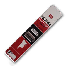 100X-FEATHER-Hi-Stainless-Platinum-Coated-Double-Edge-Razor-Blades-Japan-Made  1