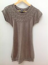 H&M MAMA Taupe Knit Wool Style Dress.  S.  <N1863