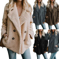 Women's Winter Fluffy Faux Fur Long Sleeve Jacket Warm Outerwear Coat Fashion