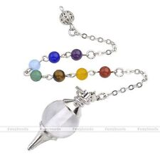 Chakra Round Ball Beads Pendulum Rock Crystal Quartz Pendant For Necklace Chic