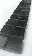 Granit Mosaik Bordüre Star Galaxy Schwarz 5x30 cm 8 mm Matt-Poliert mix, NEU