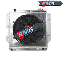 Aluminum Radiator For 1987-2004 JEEP WRANGLER YJ CHEVY V8 CONV 3ROW+Shroud & Fan