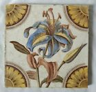ANTIQUE ENGLISH ARTS AND CRAFTS DESIGN 6 INCH TILE