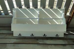 Wandregal ⭐ Garderobe ⭐Teller/Tassen Küchen-Board  ⭐  massiv ⭐weiß ⭐ 90x50 cm