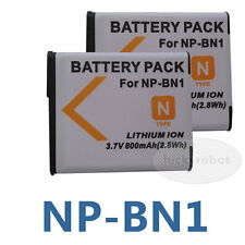 2pcs Li-Ion Battery for Sony NP-BN1 DSC-QX100 T110 TX5 TX7 TX10 TX20 TX30 TX55