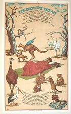 """Tea Towel. Linen/Cotton. """"The Drovers Dream"""" Australian poem"""