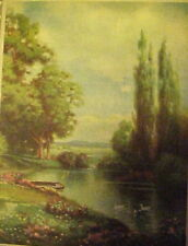 Beautiful R. Atkinson Fox Pastural Scene, Pond, Ducks