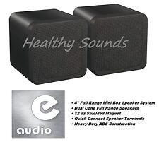 """E-audio Noir 4 """"gamme complète double cône mini coffret Haut-parleur (8 Ohms 80 W) #B 406a"""