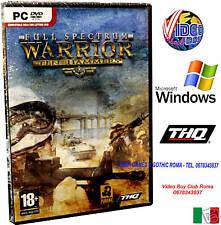 FULL SPECTRUM WARRIOR TEN HAMMERS PC DVD NUOVO IN VERSIONE ITALIANA PAL ITALIA