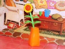 Barbie Sunflower in orange vase fits Fisher Price loving family Dollhouse Dolls