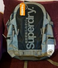 Men's Superdry Mesh Tarp Backpack Rucksack. Black / Grey. Brand New with tag.