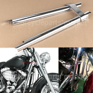 Frame Cover Front Chrome Down Tube Cover For Harley Softail Fat Boy Twin Cam