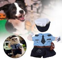 Dog Costume Dress Funny Policeman Party Halloween Pet Clothes Apparel Kit
