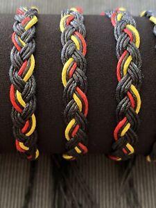 Aboriginal Flag Koori / Koorie Pride Adjustable Bracelet ABORIGINAL PRIDE 🖤💛❤️