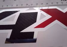 4x4 decal stickers carbon fiber and chrome silverado truck f150 f250 (SET)