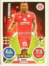 Match Attax 2016/17 Bundesliga - #252 Jhon Cordoba - 1. FSV Mainz 05