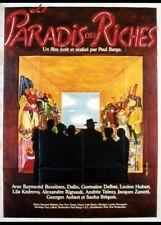 affiche du film PARADIS DES RICHES (LE) 40x60 cm