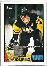 Mario Lemieux 2000-01 Topps Pittsburg Penguins 1987-88 Reprint Hockey Card
