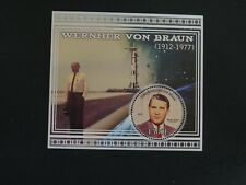 Republique Du Mali Stamp Souvenir Sheet Wernher von Braun Rocket Engineer 2013.