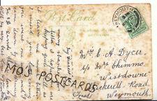 "Genealogy Postcard - Dycer -  ""Westdowne"", Chickerell Road, Weymouth - Ref 5934A"
