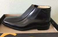STACY ADAMS NWB 23339 Men's Vegas Black Slip On Leather Ankle Boots Size 9.5 M