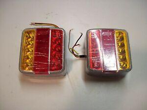 2 x  LED Trailer/Lighting Board/Caravan12volt Four Function Lights FREE P&P