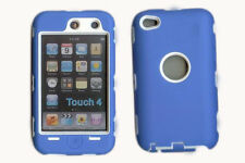 Best Protection Case / Cover for iPOD TOUCH 4 BLUE / WHITE Free Stylus!!!