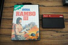 Jeu RAMBO III 3 pour Sega MASTER SYSTEM (sans notice)