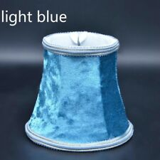 Small Lampshade Crushed Velvet Lamp Drum Shade Table Ceiling Lights Cover Retro