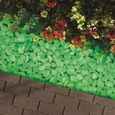 100 Pc Glow in the Dark Pebbles Stones Garden Path Edging Border