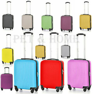 Hard Shell Cabin Size 20'' Suitcase 4 wheel Spinner Strong Travel Bag Luggage