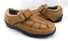 ORTHOFEET 874 Fisherman Light Brown Leather Comfort Flats Loafers Shoes 7 Wide