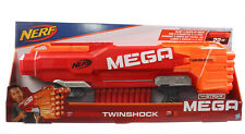 Hasbro Nerf Blaster MEGA Twinshock Spielzeug Spielzeugblaster Gewehr Pistole Rot