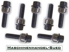 20 Radschrauben 2-teilig Porsche Cayman 981 982 987 M14x1,5 - 30mm schwarz