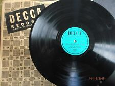 """Decca 10"""" 78/Promo/Fred Waring/Tulips And Heather/You'll Never Walk Alone/E!!!"""
