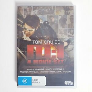 Mission Impossible 4 x DVD Movie Set Region 4 Free Postage - Action
