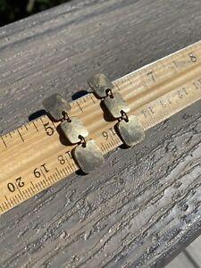 James Avery Hallmark solid Hammered 14k Gold Earrings No Backs 6.8-9 Grams