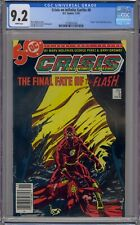 CRISIS ON INFINITE EARTHS #8 CGC 9.2 DEATH OF BARRY ALLEN WHITE PAGES