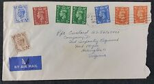 GB 1952 KGVI Air Mail Cover Kensington W8 to PFC Custard (!), Fort Myers, USA