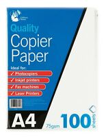 100 Sheets A4 Copier Paper 75gsm White Printer Copier A4 Papers Printing Papers
