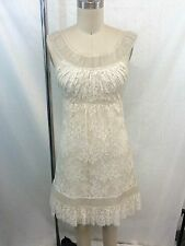 VALENTINO CREAM BEADED LACE OVERLAY DRESS SIZE SMALL RETAIL $7,950