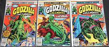 Marvel Bronze Age GODZILLA 6pc Count Mid Grade Comic Lot FN+ Monster TV Movie