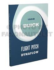 1958 Buick Flight Pitch Dynaflow Transmission Shop Manual Automatic Repair