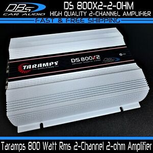 Taramps DS 800x2 2-Channel Car Amplifier 800W Rms Compact Stereo 2-ohm Amp
