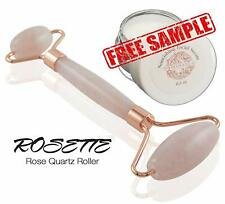 Rosette Rose Quartz Facial Roller for Facial Massage Plus Free Serum Sample
