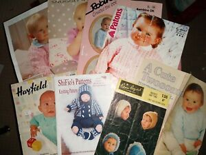 8 BABY KNITTING PATTERNS - HATS, SWEATERS, JACKETS, BOOTEES ETC